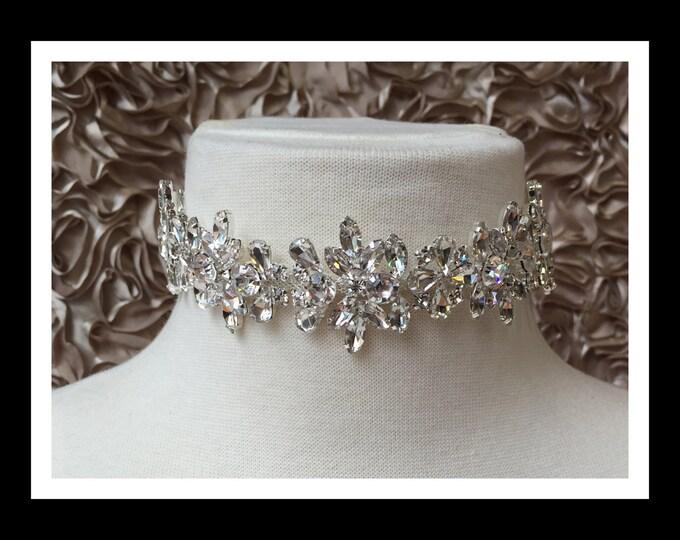 Silver Diamond Rhinestone Choker #C104
