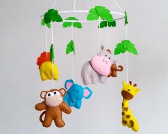 Baby crib mobile-animals mobile-nursery mobile-baby kit mobile-neutral mobile-mobile handing,