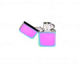 Engraved Rainbow Star Lighter
