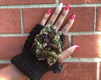 Fingerless gloves made with acrylic yarn handmade accessories