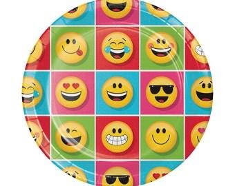 Emoji Party Plates Emoji Birthday Party Paper Plates Emoji Party Supplies Birthday Emoji Party Emoji Emoticon Social Media Emojis Instagram