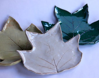 Large Leaf Ceramic Spoon Rest