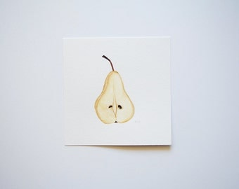 Pear (original watercolor painting)