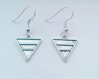 Minimalist earrings pendant triangle, minimalist earrings, geometric earrings, for earrings, for earrings