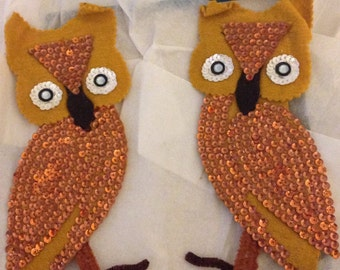 Kitschy Vintage Handcrafted Owl Magnets