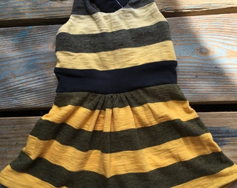 3mo racerback yellow ombre striped dress