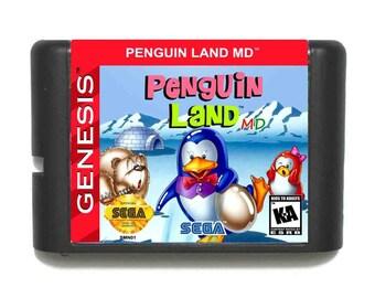 Doki Doki PENGUIN LAND MD For Sega Genesis / Mega Drive