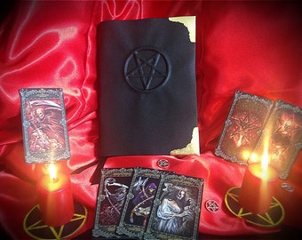 """Book of shadows """"Inverted Black Pentacle"""" -- READY TO SHIP --"""