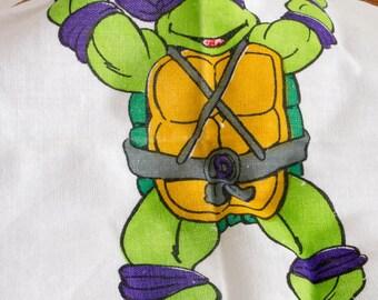 Retro Teenage Mutant Hero Turtle handkerchief