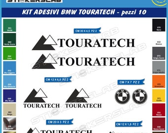 BMW Motorrad FGS Two Motorcycle Decal Sheets Set - Bmw motorcycle stickers and decals
