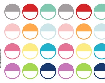 Half Circle Stickers (planner stickers)