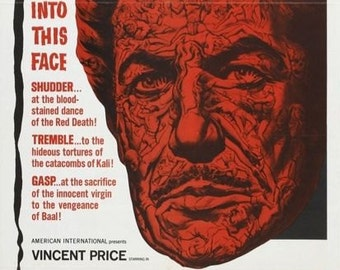 The MASQUE Of RED DEATH Movie Poster Horror Vincent Price Edgar Allan Poe