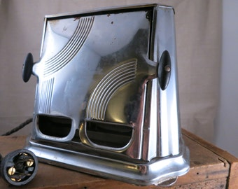 Son-Chief Vintage Art Deco Style Toaster/1930s Chrome Double - sided Toaster