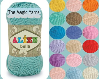 SALE Cotton yarn ,4 ply cotton, 100% pure cotton,  natural cotton without mercerization, cream, camel, blue, indigo, mint, teal,  lavender