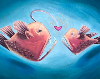 Angling for Love greeting card
