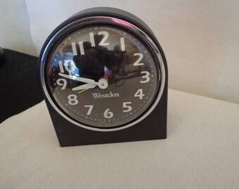 "Vintage Black ""Westclox"" Alarm Clock"