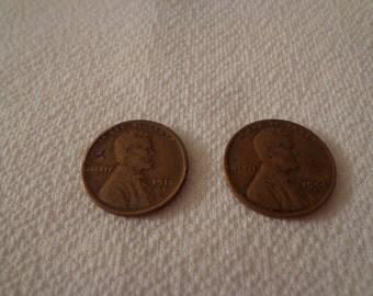 Vintage 1918 and 1944 Pennies