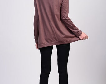 LT13019 High Quality Cotton Modal Long Sleeve Loose Fit Top Shirt