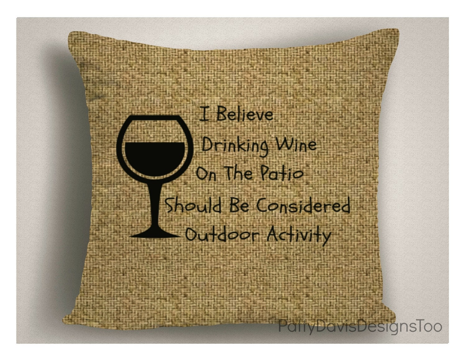 Gifts for Wine Lovers, Throw Pillows with Wine Sayings, Large Pillow Covers