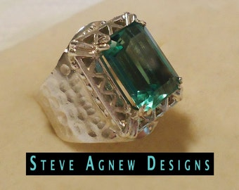 Sea Breeze Green Quartz Ring