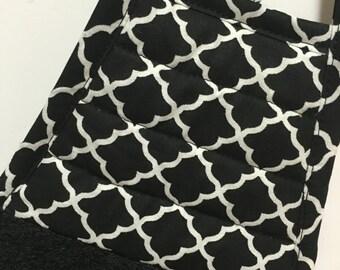 Retro Kitchen Towel - Black and White Towel - Geometric Tea Towel - Black Towe - Retro Decor - Geometric - Girlfriend Gift - Gift