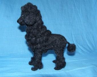 Needle felted Poodle