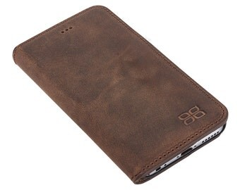 iPhone 6S Plus / 6 Plus Wallet Case, iPhone 6 Plus Leather Wallet Case, Perfect gift for Essential Cards and Cash, Book Style in AnticCoffee