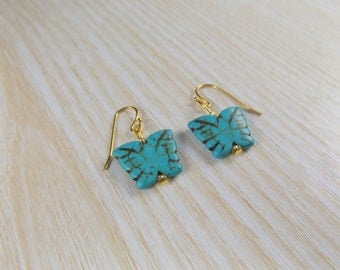 Turqiouse Butterfly Earrings