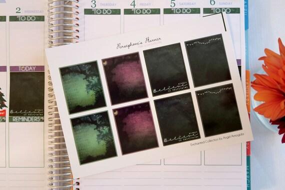 Enchanted: 8 Full Box List Stickers for Erin Condren Life Planner