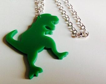 T-rex | Dinosaur | Jurassic World | Laser Cut | Acrylic | Necklace