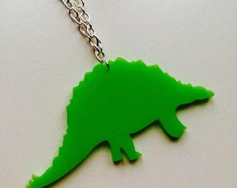 Sale | Stegosaurus | Dinosaur | Jurassic World | Laser Cut | Acrylic | Necklace