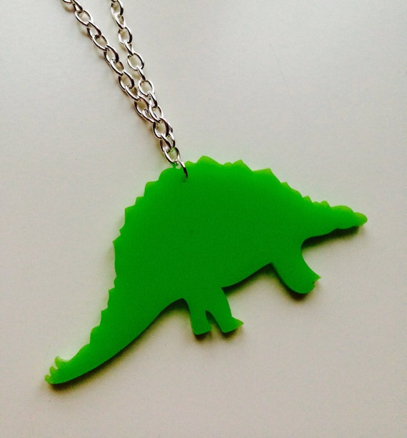 Stegosaurus | Dinosaur | Jurassic World | Laser Cut | Acrylic | Necklace