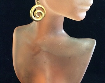 Vintage Dangling Pierced Swirl Earrings