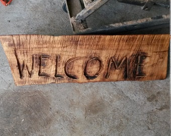 Chainsaw Carving Welcome Sign