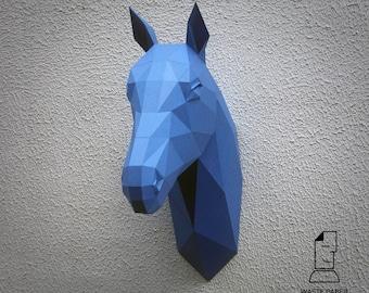 Horse head - printed DIY kit