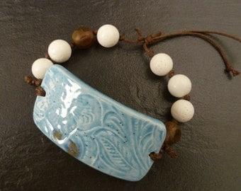 Tundra Bracelet. Ceramic cuff bracelet.