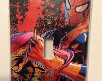 Spiderman single switch plate cover