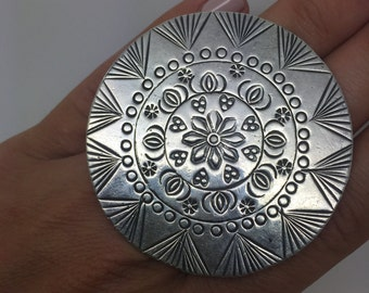 silver bohemian pendant,925 sterling silver,ethnic pendant,boho chic pendant,silver pendant,necklces pendants,round pendant