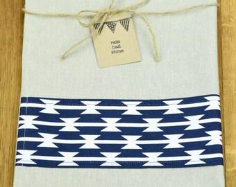 Hemp and Organic Cotton Tea Towel with Razorwire Print