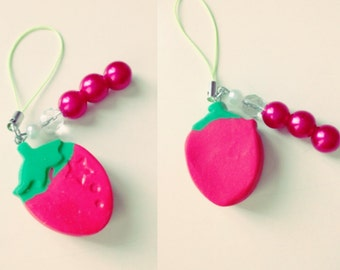 Strawberry keychain and mobile