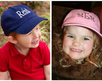 Kid's Youth Monogrammed Baseball Cap Hat