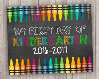 My First Day - School Chalkboard - First Day of School Printable - Back to School