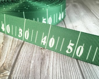 "Football ribbon - Yard line ribbon - Football season - 7/8"" grosgrain ribbon - Sports ribbon - DIY football bow - Football crafts"