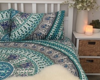 Queensize Mandala Duvet/Doona Cover with Matching Pillowcases