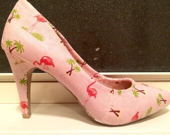 Custom Flamingo Heels Pumps