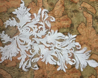 Special Design Wedding Lace Collar Patch ,High end Ivory Bridal Lace Applique for Collar