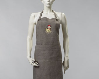 Apron Linen Embroided New