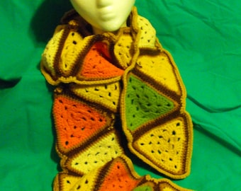 Colorful Triangle Scarf and Hat Set