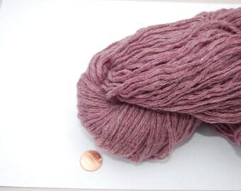 SALE! Mauve heather reclaimed wool yarn