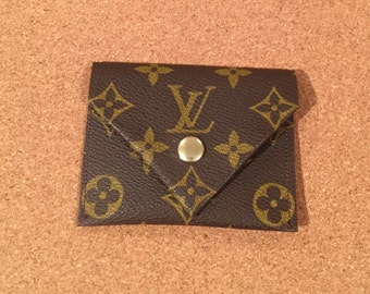Envelop-shaped pouch made from authentic Louis  Vuitton canvas perfect for ID, credit cards,coins and cash